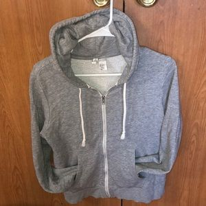 H&M basic grey hoodie zip up size small